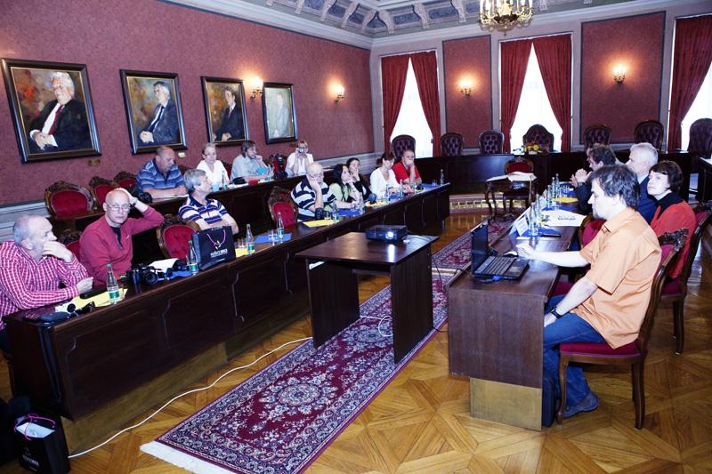 Českí novinári v priestoroch Historickej radnice mesta Košice, foto: Tomáš Čižmárik