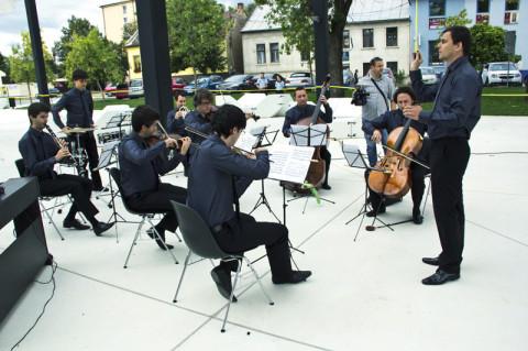 Quasars Ensemble na otvorení Kasární/Kulturparku, foto: Tomáš Čižmárik