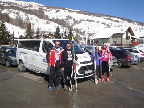 slovesnký tím po behu na lyžiach